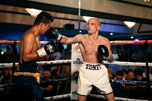 Connor Edney in action during his professional debut
