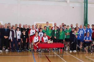 Portsmouth Sitting Volleyball Club members at the Cams Hill tournament