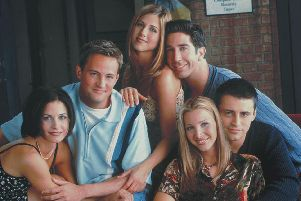 Vue cinema in Gunwharf Quays, Portsmouth, has announced it will hold three Friends marathons - each with four episodes apiece - in December. From left, the show's characters Monica, Chandler, Rachel, Ross, Phoebe and Joey,