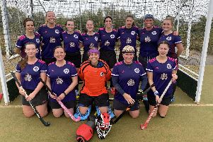Portsmouth women's 2nds. Back (from left) Callie Moore, Carol Rutter, Lucy Dunning, Sam Hassall, Beatrice Gall, Hayley Chivers, Nicky Puckett, Kezia Winters. Front: Ali Thomas, Emma Japes, Kirsty Harley, Sarah Stewart, Hayley Armstrong.