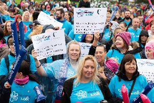 Alzheimer's Society called upon people to join in with the Memory Walk. Picture: Duncan Shepherd