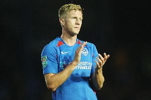 Ross McCrorie hasn't featured for Pompey in League One for more than a month. Picture: Joe Pepler