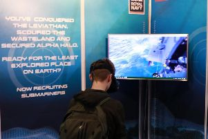 The navy has a booth set up at the EGX convention in London this weekend. Picture: Royal Navy