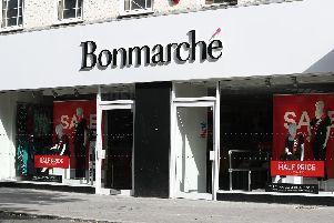 A Bonmarche store front as the high street retailer  collapses into administration. Picture: Jonathan Brady/PA Wire