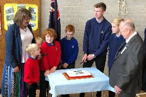 Cutting the cake: A service and reunion was held on October 13 at Waterlooville Baptist Church to commemorate the launch of 1st Waterlooville Boys' Brigade 60 years ago in October 1959