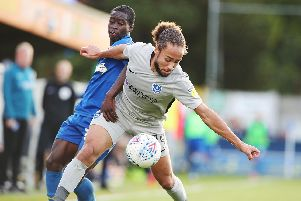 Marcus Harness was switched to the left against AFC Wimbledon, but a different future role could beckon. Picture: Joe Pepler
