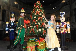 Shaun Mendum as the Nutcracker Prince and Caitlin Anderson as Clara at the New Theatre Royal. Picture: Sarah Standing (090919-5261)