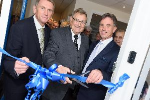 Mayfields Funeral parlour has undergone a full refurbishment and have held held an open day to 're-launch' the business - (L-R) Rowan Maxwell (funeral director), David Colbourne (former owner/director), Paul Lee-Bapty (managing director Southern Funeral services and Mayfield Funeral services).