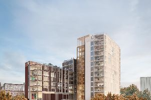 Design D in the shortlist of proposals for the University of Portsmouth Victoria Park site.