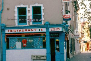 By 1977 the former cafe opposite the Theatre Royal in Commercial Road/Guildhall Walk, Portsmouth, had become an Italian restaurant.  Picture: John Rich.