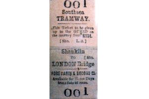 The tram ticket recently sold for 2,500 in a London auction. Picture: Barry Cox collection.