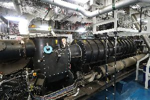 The new waste plant has been fired up on HMS Prince of Wales. Photo: Royal Navy