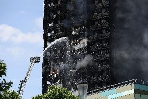 BRAVE: Firefighters tackling the Grenfell Tower blaze Picture: Getty Images