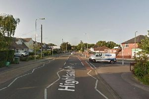Highlands Road in Fareham at the junction with Gudge Heath Lane. Picture: Google