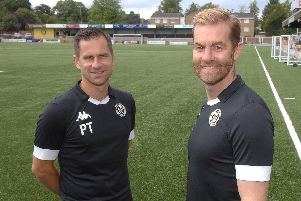 Harrogate assistant manager Paul Thirlwell (left) Picture: Adrian Murray
