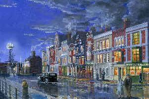 The Hard, Portsea, Portsmouth, 1936, by artist Neil Marshall.