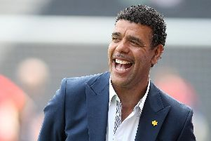 Chris Kamara is to challenge Robbie Williams and Louis Tomlinson for Christmas number one.  Pete Norton/Getty Images