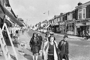 Fawcett Road in April 1971