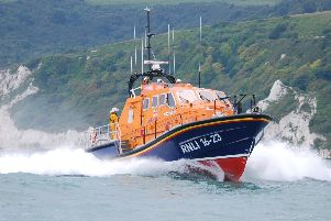 A lifeboat from RNLI Bembridge has been dealing with a fishing vessel which has run aground near the submarine barrier.