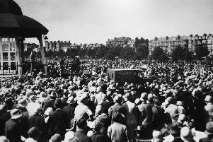 The Bishop of Portsmouth giving a sermon at Southsea skating rink in 1922. Picture: Geoff Witte collection.