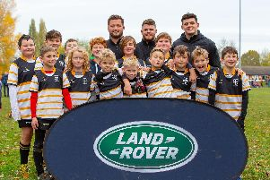 Portsmouth RFC youngsters at the Harlequins Land Rover sponsored youth event