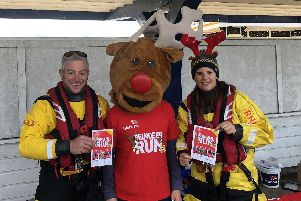 The RNLI team at the Portsmouth lifeboat station assisted with the Southsea Parkrun to drum up some support for the twoReindoorRuns