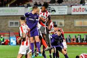 Pompey Academy exited the FA Youth Cup at Cheltenham. Picture: Colin Farmery