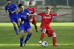 Miles Everett, right, in action for Horndean