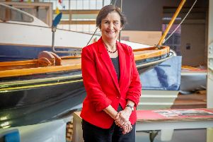Pictured:  Shadow defence secretary Nia Griffith at the Historic Dockyard, Portsmouth.'Picture: Habibur Rahman