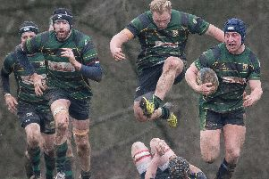 James Campbell, right, in action for Locks Heath