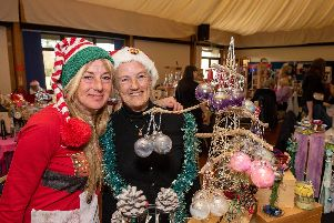 Hayling Christmas Fayre at the Hayling Island Community Centre - Clare Hassett with her Mum Gill Mills. Picture: Vernon Nash (161119-005)