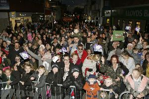 Cosham Christmas lights are switched on at the 2017 event.''Picture : Habibur Rahman