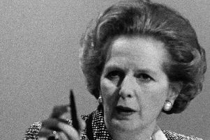DEVISIVE: Margaret Thatcher in combative mood. Picture:Keystone/Getty Images
