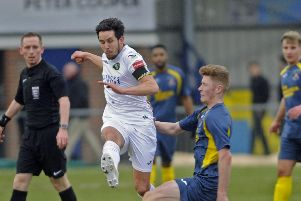 Brian Stock in action for Havant & Waterlooville. Picture: Ian Hargreaves  (170062-1)