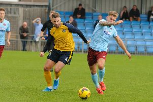 Rory Williams got Gosport's goal in the draw with Yate Town. Picture: Duncan Shepherd