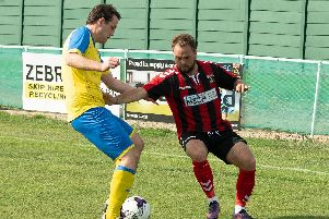 Bobby Scott scored a superb goal for Horndean. Picture: Keith Woodland