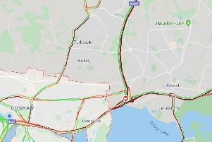 Motorists are warned of severe delays on A27 and A3M this morning. Picture: Google