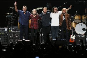 The Eagles performing Hotel California in Las Vegas. Picture: Ron Koch