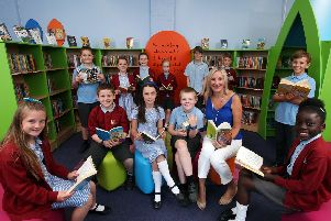 The school council and Caroline Dinenage MP at the opening of the new library at Crofton Anne Dale Junior School last year. Picture: Chris Moorhouse