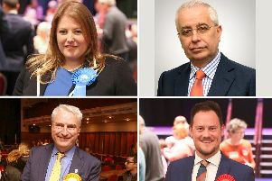 Portsmouth South Tory candidate Donna Jones and the Brexit Party's candidate John Kennedy, with bottom row: Lib Dem candidate Gerald Vernon-Jackson and Labour incumbent Stephen Morgan. Pictures: Habibur Rahman/PA/John Kennedy