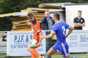 Nathan Paxton is expected to be back for AFC Portchester this weekend. Picture: Ian Hargreaves  (070919-3)