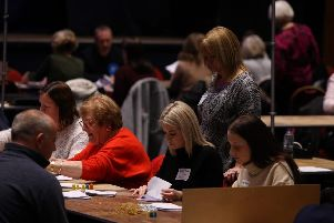Vote counters at Portsmouth Guildhall for the general election held on December 12 in 2019. Picture: Habibur Rahman