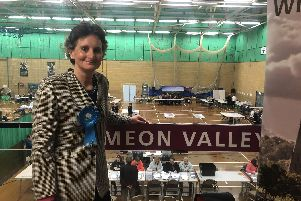 Meon Valley MP Flick Drummon at the general election count in Winchester. Picture: Annie Lewis