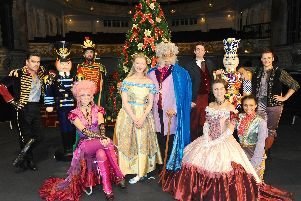 The New Theatre Royal in Guildhall Walk, Portsmouth, launched their Christmas show The Nutcracker on Monday, September 9. ''Pictured is: (back l-r) Neil Jennings as the Mouse King, Shaun Mendum as the Nutcracker Prince, Adrian Bevan as Mr Stahlbaum and Samuel Bailey as Ivanov with (front l-r) Sarah-Faith Brown as Sugar Plum Fairy, Caitlin Anderson as Clara, Kurt Kansley as Drosselmeyer and Mother Ginger, Natalie Turner as Mrs Stahlbaum and Hollie Smith-Nelson as Petipa. ''Picture: Sarah Standing (090919-5243)
