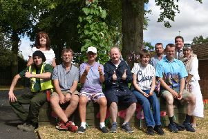 Staff, service users and volunteers worked hard to complete the project.