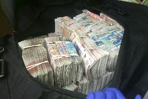 The cash discovered in the van