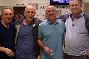 Winners 'The Blue Brothers' - Brian Webber, John Payne, Mark Noble and Lindsay Shaw