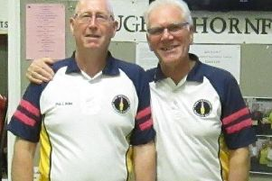 Winners Phil Bale and Bob Page