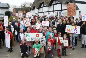 Protesters previously took the streets to support their headteacher.