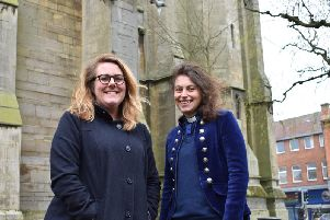 Events organiser Amber Potter (left) and the Rev Imogen Nay.